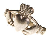Traditional Claddagh ring isolated Royalty Free Stock Images