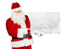 Traditional classic red white santa claus billboard Royalty Free Stock Photo