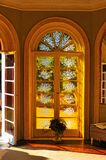 Traditional classic windows door in interior Stock Photography