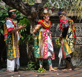 Traditional classical Barong theatre show on Bali Stock Images