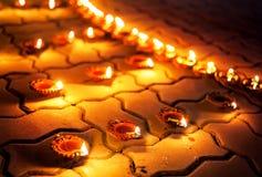 Traditional clay diya lamps Royalty Free Stock Image
