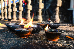 Traditional Clay Lamps Stock Photography
