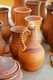 Traditional clay pots of manual Stock Photography