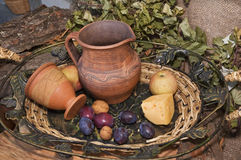 Traditional clay pottery Stock Image