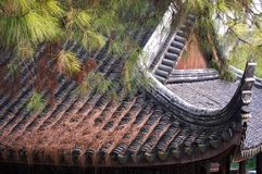 Traditional clay roof of ancient chinese building,closeup. Traditional clay roof of ancient chinese building,closeup Royalty Free Stock Photo