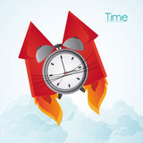 Traditional clock and fireworks design. Traditional clock and fireworks icon. Time instrument and tool theme. Colorful design. Vector illustration Royalty Free Stock Image