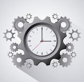Traditional clock gears and time design Stock Images