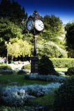 Traditional clock in Parcul Unirii park, Bucharest Stock Photography