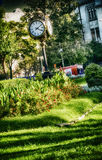 Traditional clock in Parcul Unirii park, Bucharest Stock Images