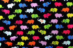 Traditional cloth. Traditional elephant cloth on black blackground Royalty Free Stock Image