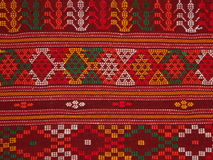 Traditional cloth called ulos batak. Colorful traditional cloth with abstract motif called ulos batak. Batak is a tribe in north sumatera indonesia stock photo