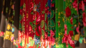 Traditional cloth from Romania , Maramures county. With colourful material stock image