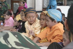 TRADITIONAL CLOTHES FROM CENTRAL JAVA Stock Images