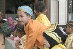 TRADITIONAL CLOTHES FROM CENTRAL JAVA Stock Photography