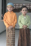 TRADITIONAL CLOTHES FROM CENTRAL JAVA Royalty Free Stock Photo
