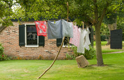 Traditional clothes line stock photo