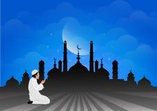 Traditional clothes muslim man making a supplication salah Royalty Free Stock Photos