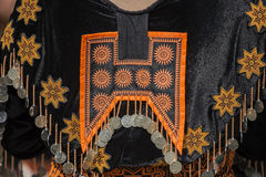 Traditional clothes and silver jewelery of Muser hill tribe Royalty Free Stock Photo