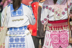 Traditional clothes and silver jewelery of Muser hill tribe Stock Photography