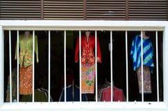 Colorful Traditional Clothes, BaBa Nyonya, Melaka Royalty Free Stock Photos