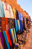Traditional clothes in the village Ait-Ben-Haddou Stock Photography
