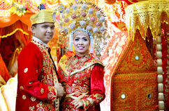 Traditional clothes. Wedding ceremonies from minang kabau, west sumatra Stock Photos