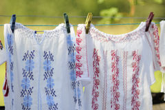 Traditional clothing hanging Stock Photo