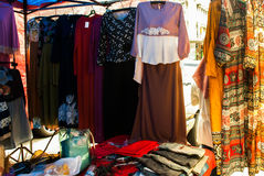 Traditional clothing of Muslim women in the market. Malaysia. Traditional clothing of Muslim women in the market. Borneo, Malaysia Royalty Free Stock Images