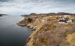 Traditional coastal Norwegian village Stock Photography