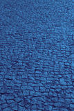 Traditional cobblestone floor street in blue tone Royalty Free Stock Photos