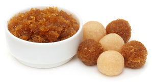 Traditional coconut laddu of Southeast Asia Stock Photos