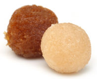 Traditional coconut laddu of Southeast Asia Royalty Free Stock Photos