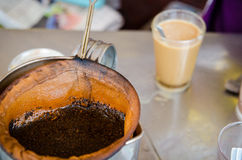 The traditional coffee culture in Southeast Asia. Stock Images