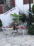 Traditional Coffee Point for at Parga Northwest Greece stock photography