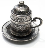 Traditional coffee pot. Image on white background Royalty Free Stock Image