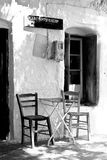 Traditional coffee shop in a Greek village Royalty Free Stock Image