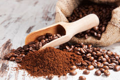 Traditional coffee still life. Royalty Free Stock Photo