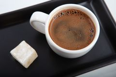 Traditional Coffee and Turkish Delight royalty free stock photos
