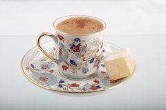 Traditional Coffee and Turkish Delight royalty free stock image