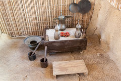 Traditional coffeepot in a bedouin tent Stock Images