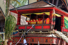 Traditional coffin at funeral ceremony. Tana Toraja Royalty Free Stock Images