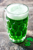 Traditional cold green beer for Saint Patrick`s Day. Copyspace. Stock Photography