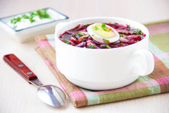 Traditional cold Lithuanian summery soup made of beets, cucumber Stock Photography