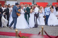 Traditional collective wedding ceremony in Belgrade 7 Royalty Free Stock Photo