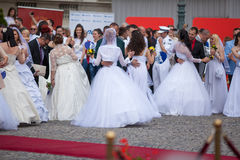Traditional collective wedding ceremony in Belgrade 6 Stock Photo