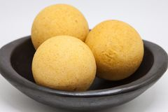 Traditional Colombian buñuelos isolated. Traditional Colombian buñuelos Deep Fried Cheese Bread isolated on white background royalty free stock image