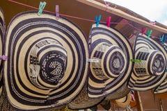 Traditional Colombian handmade hats sombrero stock photos