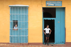 Traditional colonial restaurant in Trinidad Stock Photos