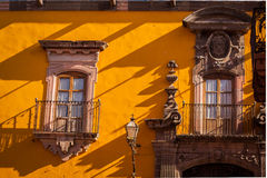 Traditional colonial streets of San Miguel de Allende Stock Image
