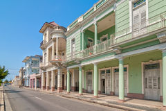 Traditional Colonial Style Buildings Located On Main Street Royalty Free Stock Photo